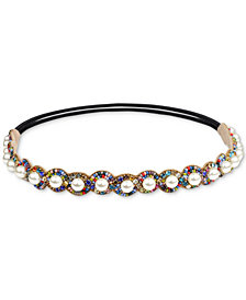 Deepa Gold-Tone Crystal, Bead & Imitation Pearl Headband