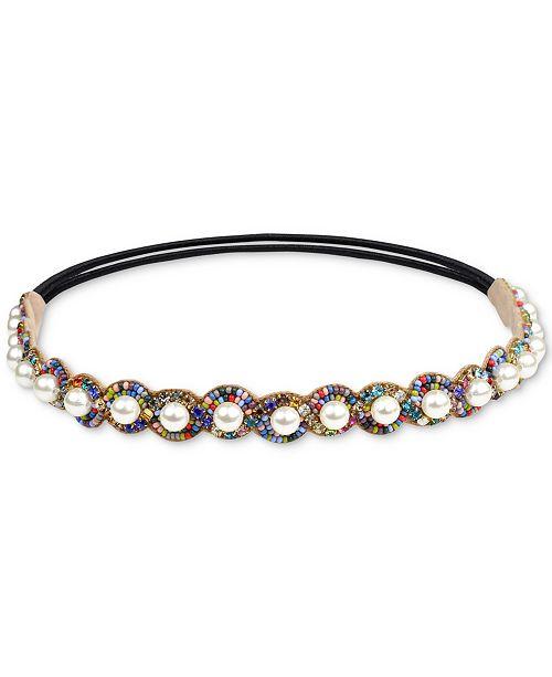 Deepa Gold-Tone Crystal, Bead & Imitation Pearl Headband