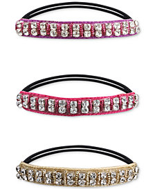 Deepa Two-Tone 3-Pc. Set Crystal Ponytail Holders
