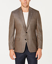 Lauren Ralph Lauren Men's Classic-Fit UltraFlex Stretch Light Brown Tic Sport Coat