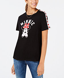 Love Tribe Juniors' Minnie Mouse Roses Graphic T-Shirt