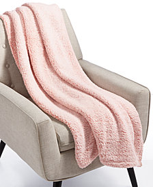 Whim By Martha Stewart Collection Sherpa Throw Blanket, Created for Macy's