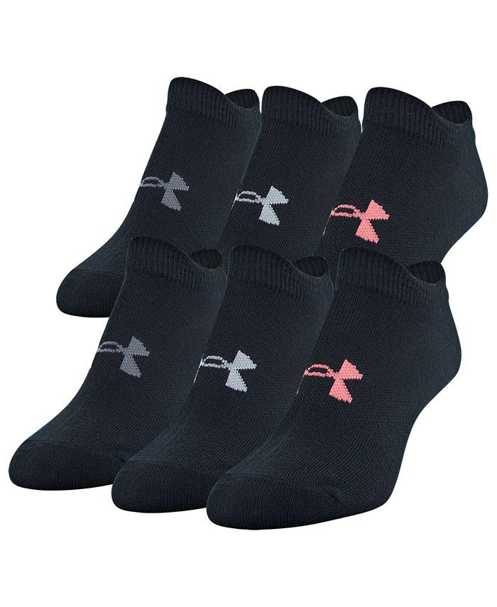 Under Armour - 6-Pk. Essential No-Show Socks