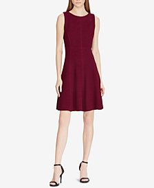 American Living Jacquard Fit & Flare Dress