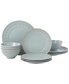 Lenox Chelse Muse Fleur 12-Pc. Dinnerware Set, Service for 4