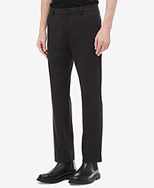 Calvin Klein Men's Slim-Fit Seersucker Plaid Pants