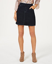 Style & Co Frayed Denim Skort, Created for Macy's