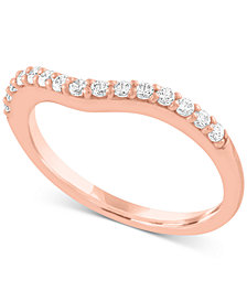 Diamond Wave Band (1/4 ct. t.w.) in 10k Rose or White Gold
