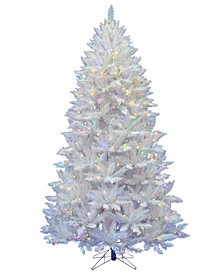 Vickerman 6.5' Sparkle White Spruce Artificial Christmas Tree with 600 Multi-Colored LED Lights