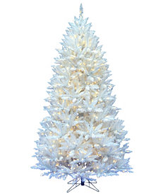 Vickerman 7.5' Sparkle White Spruce Artificial Christmas Tree with 750 Warm White LED Lights