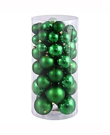 "1.5""-2"" Green Shiny/Matte Ball Christmas Ornament, 50 per Box"