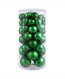 "Vickerman 1.5""-2"" Green Shiny/Matte Ball Christmas Ornament, 50 per Box"