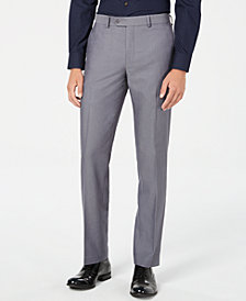 Bar III Men's Slim-Fit Solid Iridescent Suit Pants, Created for Macy's