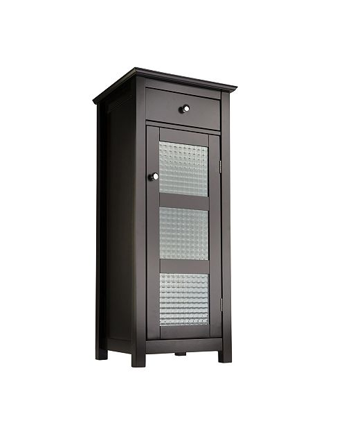 Elegant Home Fashions Chesterfield Floor Cabinet, 1 Door and 1 Drawer