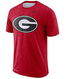 Nike Men's Georgia Bulldogs Dri-Fit Cotton Slub T-Shirt