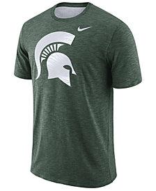 Nike Men's Michigan State Spartans Dri-Fit Cotton Slub T-Shirt