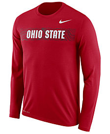 Nike Men's Ohio State Buckeyes Legend Sideline Long Sleeve T-Shirt 2018
