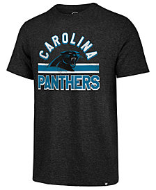 '47 Brand Men's Carolina Panthers Team Stripe Match Tri-Blend T-Shirt