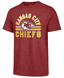 Men's Kansas City Chiefs Team Stripe Match Tri-Blend T-Shirt