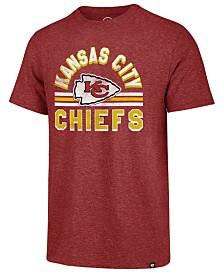 '47 Brand Men's Kansas City Chiefs Team Stripe Match Tri-Blend T-Shirt