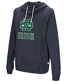 Colosseum Women's Notre Dame Fighting Irish Speckled Fleece Hooded Sweatshirt