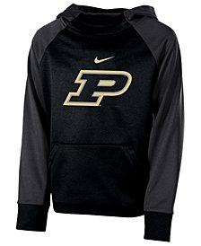 Nike Purdue Boilermakers Therma Color Block Hoodie, Big Boys (8-20)