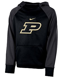 Nike Purdue Boilermakers Therma Color Block Hoodie, Big Boys (8-20)