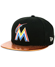 New Era Miami Marlins Topps 9FIFTY Snapback Cap