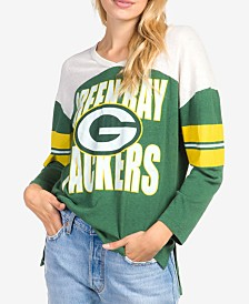 Junk Food Women's Green Bay Packers Liberty Throwback Raglan T-Shirt
