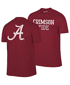 Retro Brand Men's Alabama Crimson Tide Team Stacked Dual Blend T-Shirt