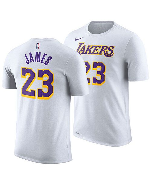 4ccfb1a5f ... Nike Men s LeBron James Los Angeles Lakers Icon Player T-Shirt ...