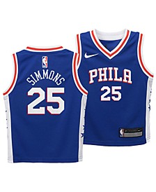 Ben Simmons Philadelphia 76ers Icon Replica Jersey, Toddler Boys (2T-4T)