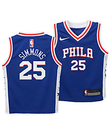 Nike Ben Simmons Philadelphia 76ers Icon Replica Jersey, Toddler Boys (2T-4T)