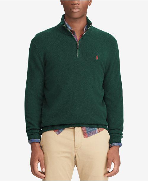 ... Polo Ralph Lauren Men s Cashmere Blend Half-Zip Sweater 88759fa221c5