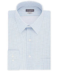 Van Heusen Men's Classic/Regular Fit Poplin Neat Dress Shirt