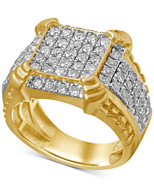 Men's Diamond Cluster Ring (2-1/4 ct. t.w.) in 10k Gold