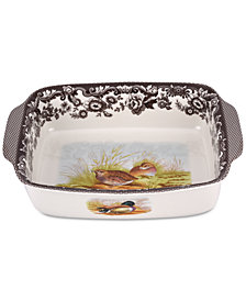 Spode Woodland Bird Rectangular Handled Dish