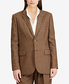 Polo Ralph Lauren Houndstooth Tweed Blazer