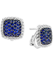EFFY® Sapphire Cluster Stud Earrings (1-5/8 ct. t.w.) in Sterling Silver