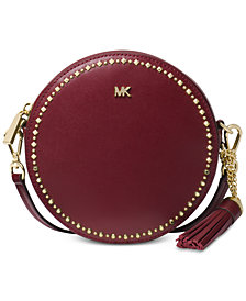 MICHAEL Michael Kors Studded Leather Circle Bag