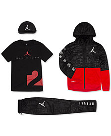 Jordan Big Boys Jumpman Mesh Cap, Zip-Up Hoodie, Graphic-Print T-Shirt & Pants