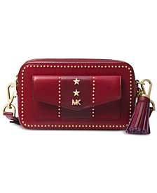 MICHAEL Michael Kors Studded Leather Pocket Camera Bag