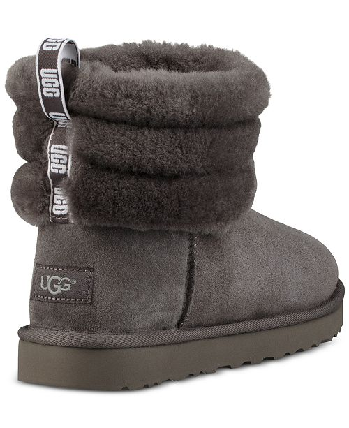 Ugg Womens Fluff Mini Quilted Boots Reviews Boots Shoes Macys