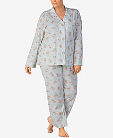 Lauren Ralph Lauren Plus Size Cotton Printed Pajama Set