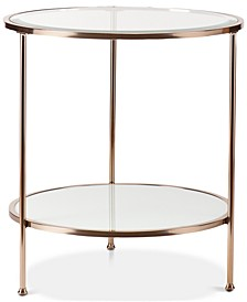 Brookford Gold Metal and Glass Console Table