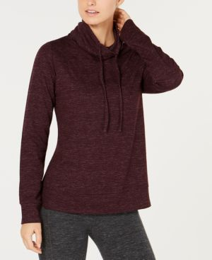 Image of 32 Degrees Fleece Quilted Funnel-Neck Top