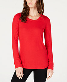 I.N.C. Ribbed Long-Sleeve T-Shirt