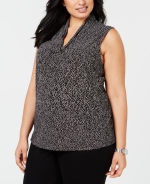 Image of Anne Klein Plus Size Dot-Print Top