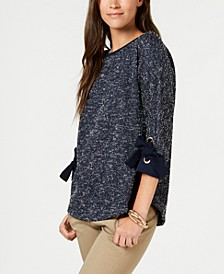 3/4-Sleeve Bow-Trim Top, Created for Macy's
