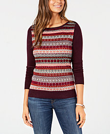 Tommy Hilfiger Patterned Crewneck Sweater, Created for Macy's
